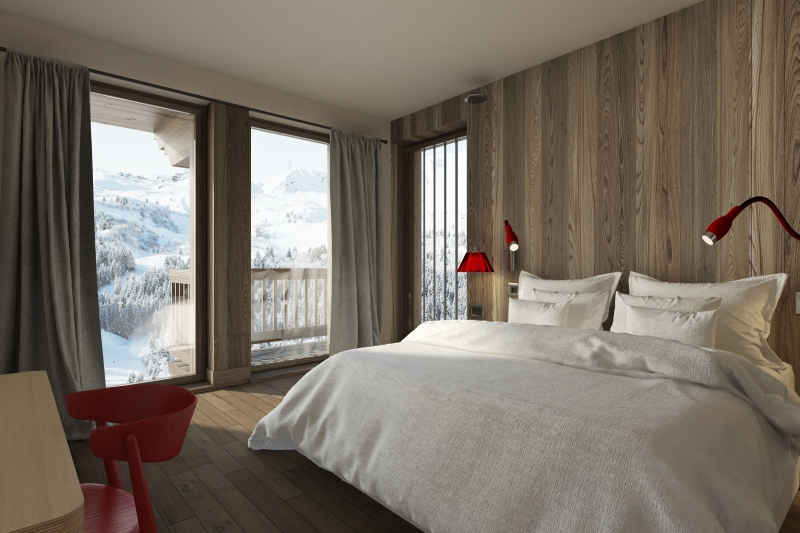 meribel mountain resort property - bedroom
