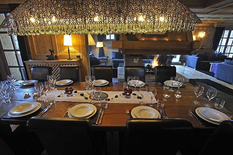 val d'isere mountain resort property - dining room