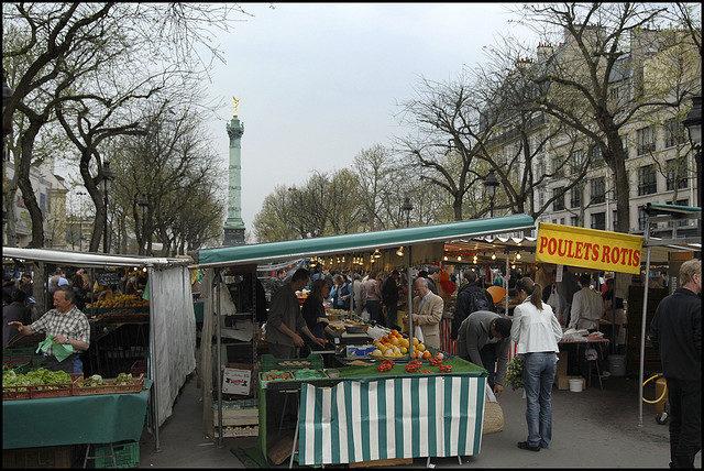 IMAGE: Market stalls at Bastille