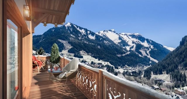 image: mountain view from luxury ski resort property