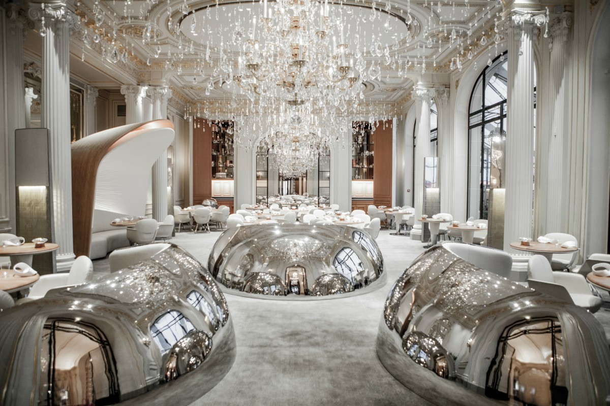 IMAGE: The Alain Ducasse restaurant at Hôtel Plaza Athénée