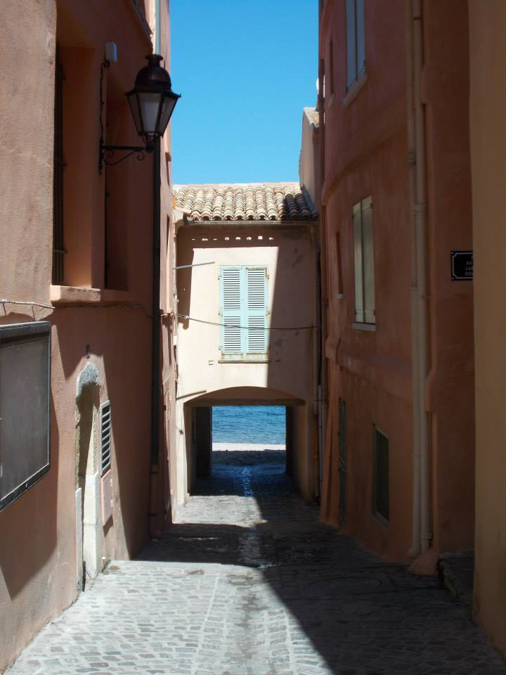 IMAGE: View looking down through buildings to the sea