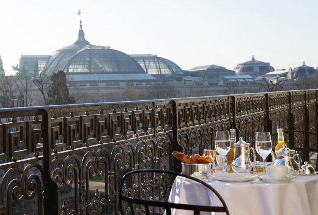 IMAGE: View over Le Grand Palais from La Réserve Paris