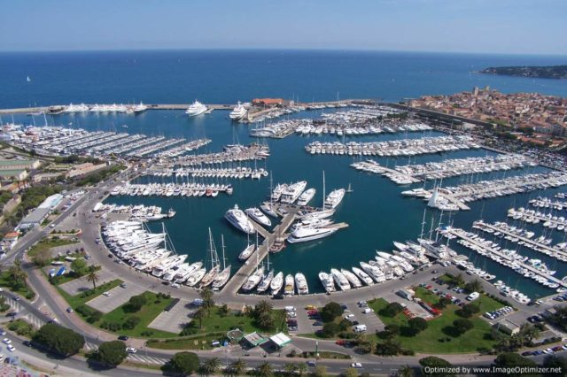 IMAGE: Aerial view of Port Vauban in Antibes