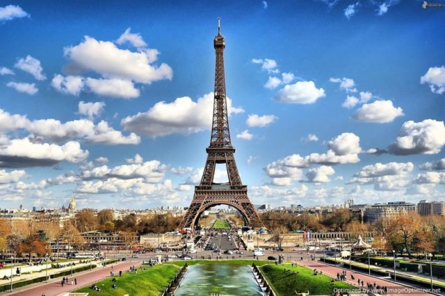 IMAGE: Panoramic view of the Eiffel Tower in Paris
