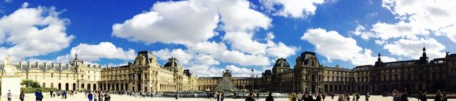 IMAGE: View of the Louvre art gallery in Paris