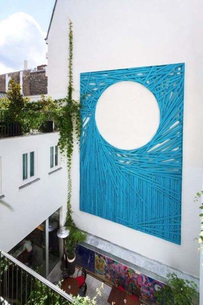 IMAGE: View of a striking artwork at Le Bains where you can enjoy an exclusive art experience this autumn