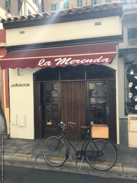 IMAGE: View showing the front entrance of La Merenda in Nice