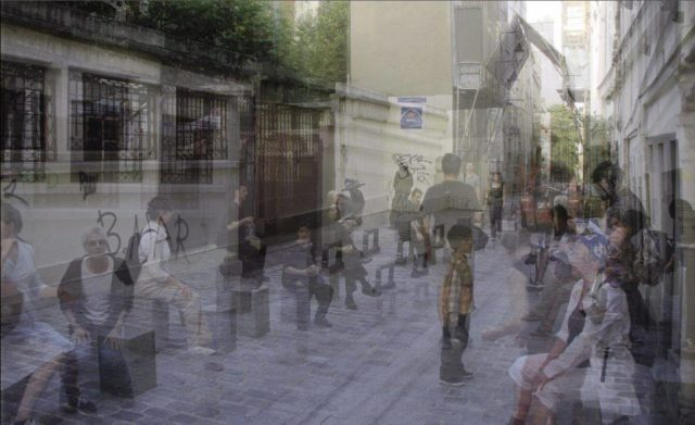 IMAGE: One of the artworks from the walk showing rue Rollin, near the Pantheon, in the 5th arrondissement