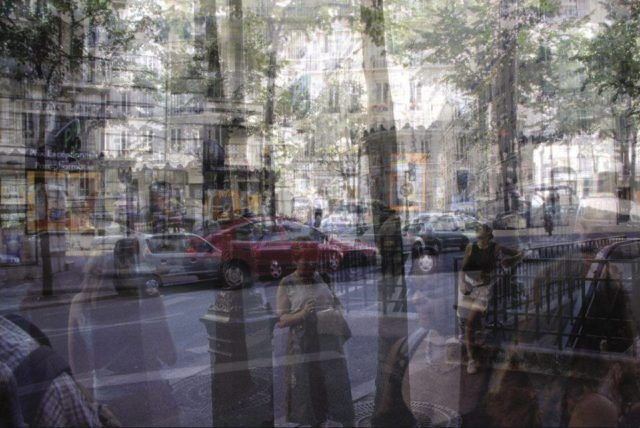 IMAGE: One of the artworks from the exhibition showing avenue Mozart in the 16th arrondissement