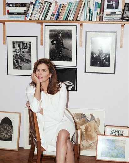IMAGE: Janine di Giovanni sitting in her apartment