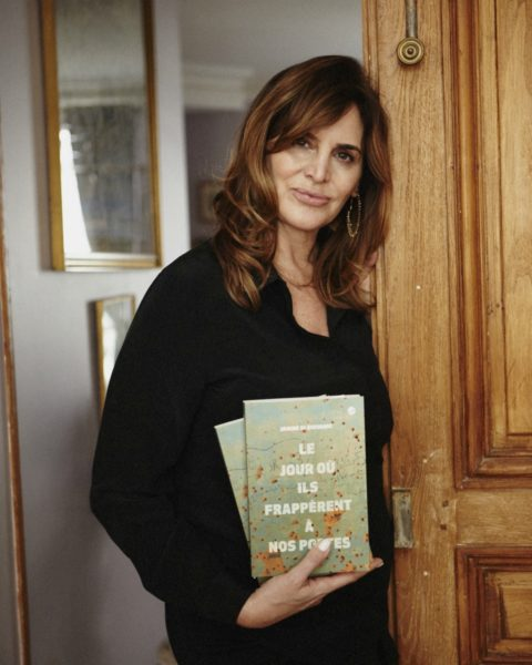 IMAGE: Janine di Giovanni at her apartment with her new book