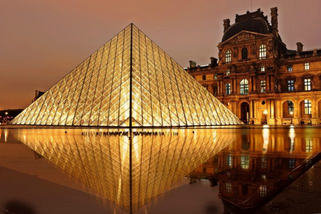 IMAGE: View of the iconic pyramid that is part of The Louvre