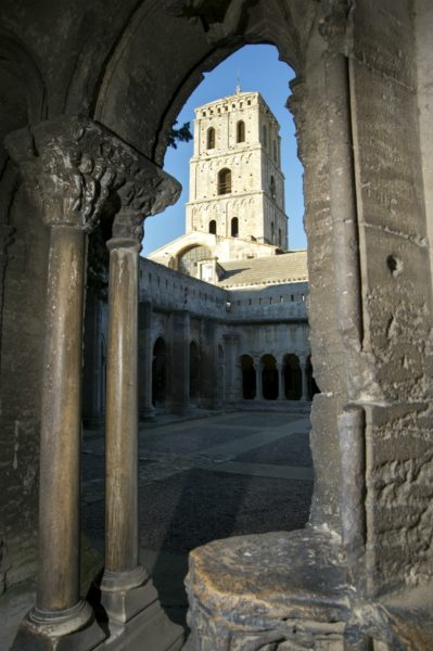 IMAGE: Looking though an archway to the 12th century church of St Trophime in Arles