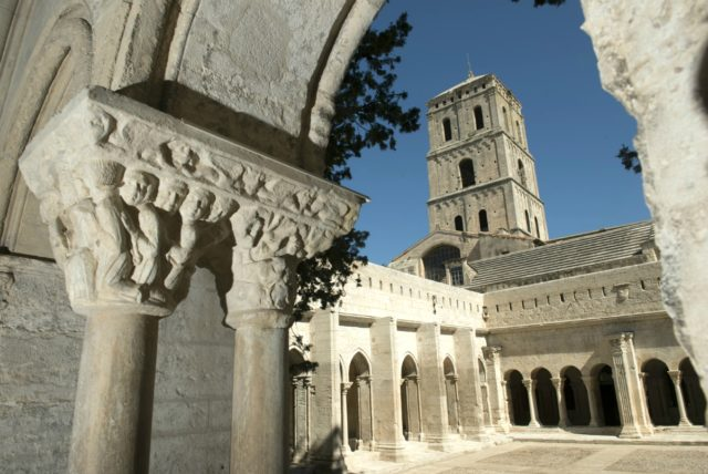 IMAGE: View through an archway of the 12th century church of St Trophime
