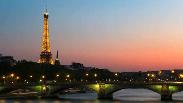 IMAGE: Pic of the Eiffel Tower and surrounding landscape including the Seine