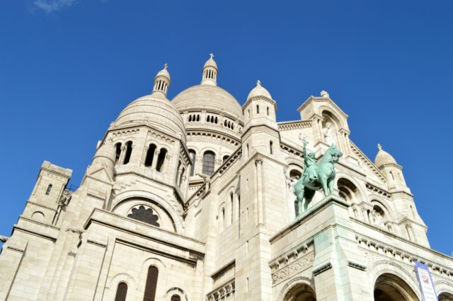IMAGE: Looking up at the Sacré-Cœur in the 18th arrondissement