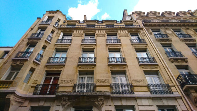 IMAGE: Exterior of typical French apartment building in Paris