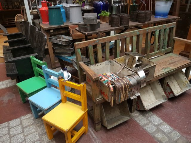 IMAGE: Chairs, benches and pots etc at the Marché aux Puces at Saint-Ouen