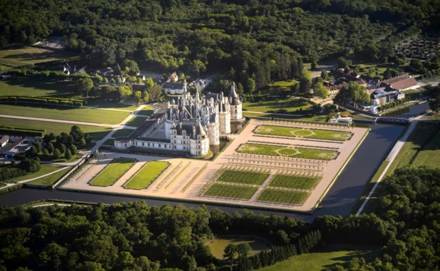 IMAGE: Aerial view of Château de Chambord in the Loire