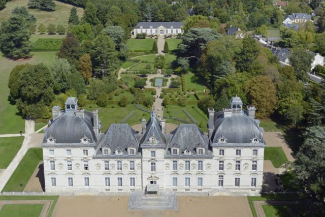 IMAGE: Aerial view of Château de Cheverny in the Loire