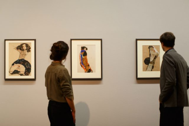 IMAGE: Enjoying the Schiele collection at the Leopold Museum in Vienna