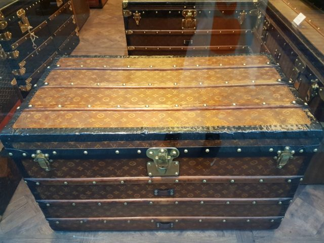 IMAGE: View of a Louis Vuitton trunk at the Marché aux Puces
