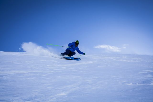 IMAGE: A man skiing down a snowy slope in Méribel