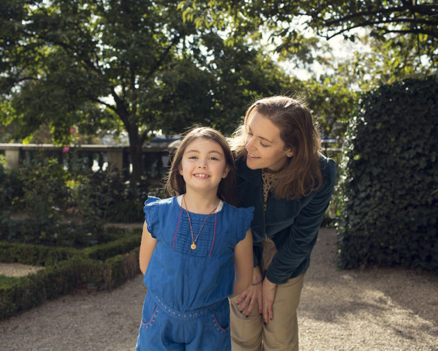 IMAGE: Susie Hollands and her daughter, Paloma, enjoying the spring sunshine in Paris