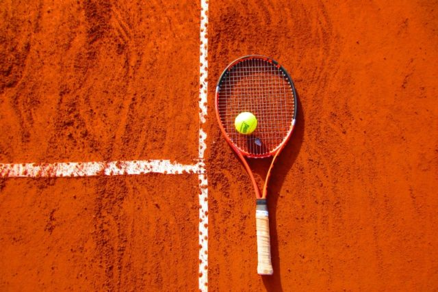 IMAGE: Tennis racket on court to illustrate VIP events