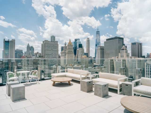 IMAGE: View from the top of Hotel 50 Bowery in New York