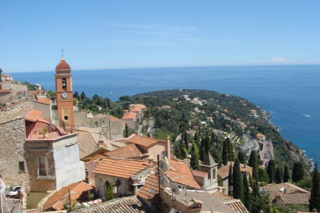 IMAGE: View from Roquebrune-Cap-Martin looking over the sea