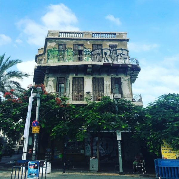 IMAGE: Building with street art in Tel Aviv