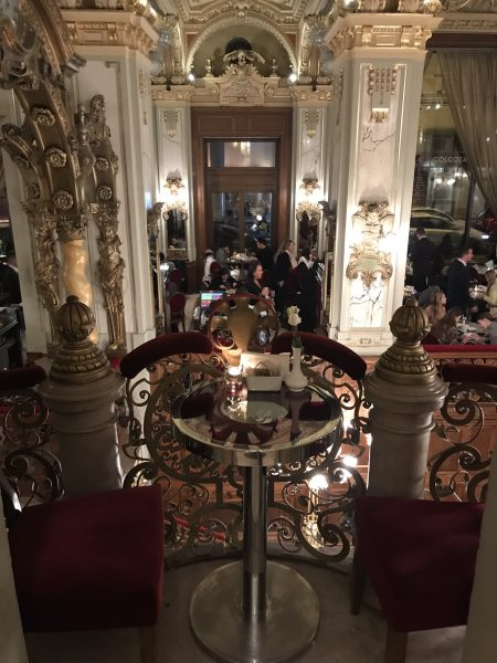 IMAGE: The opulent interior of a Budapest coffee house