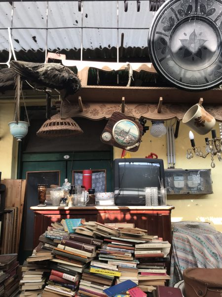 IMAGE: Ramshackle stall at the famous flea market in Budapest