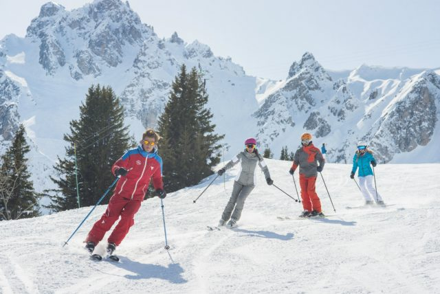 Skiers enjoying the slopes at Courchevel