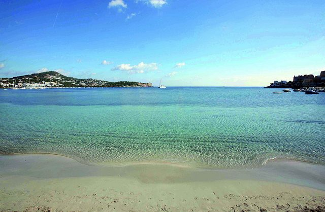 IMAGE: Lovely sandy beach of Talamanca in Ibiza