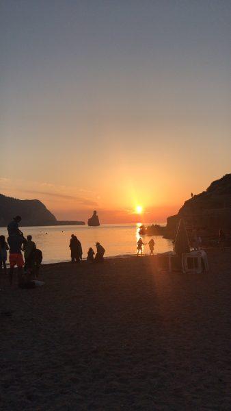 IMAGE: Stunning sunset over the beach in Ibiza