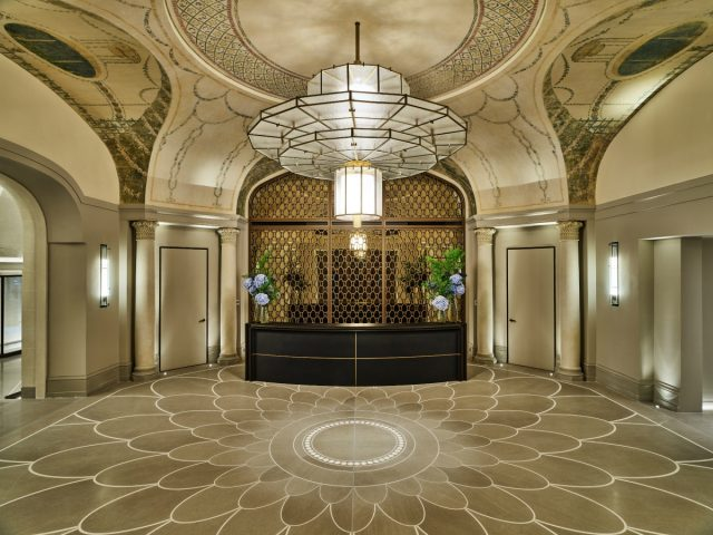 IMAGE: The beautiful Art Deco reception area of the Lutetia