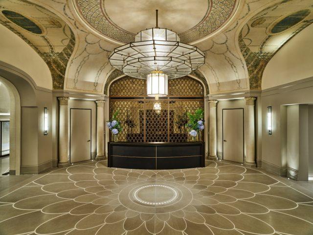 IMAGE: The beautiful Art Deco reception area of the Lutetia