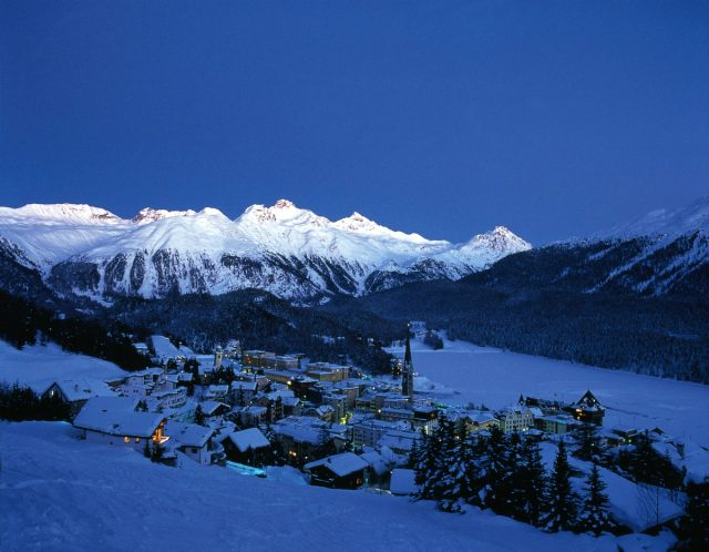 IMAGE: St. Moritz at dusk