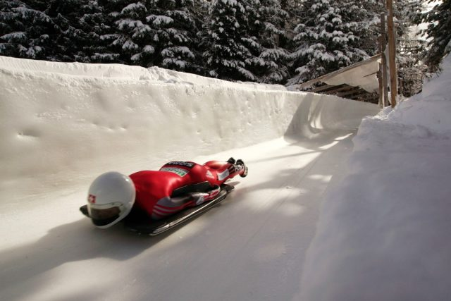 IMAGE: On the bob-sleigh run in St. Moritz