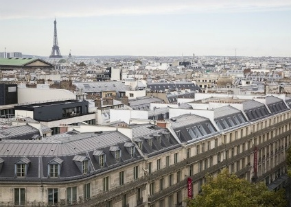 IMAGE: Panoramic view of Paris, including the Eiffel Tower, which can increase the value of a property significantly
