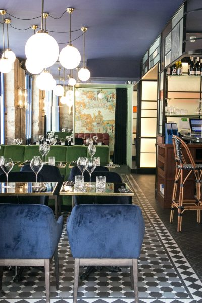 IMAGE: View showing the stylish interior of Les Foodies in the Marais