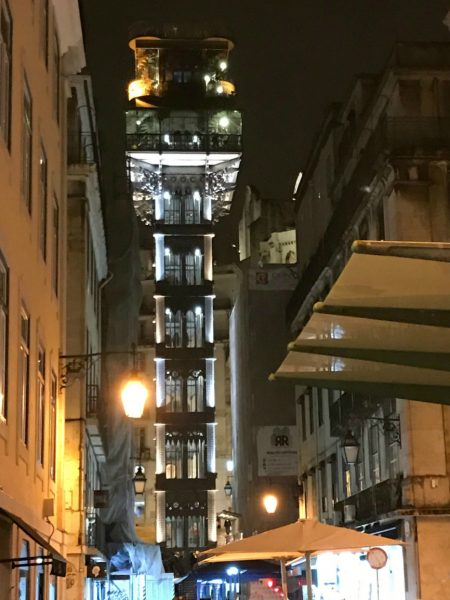 Nighttime picture of the Santa Justa Lift