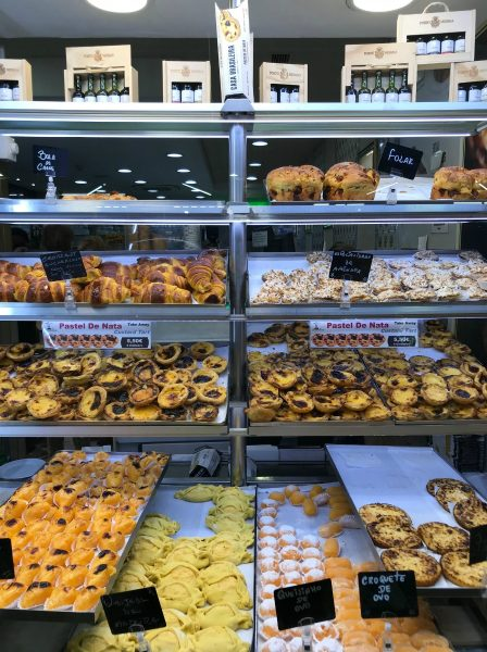 Range of fresh pastries to show the wide range available